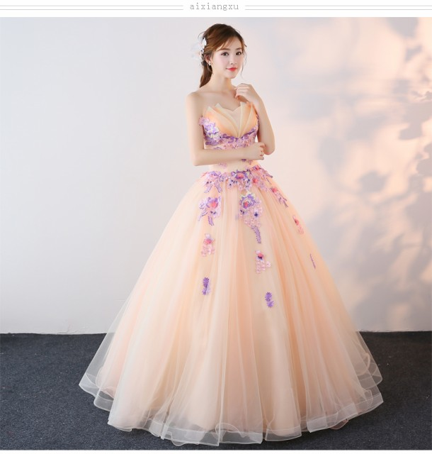 ビスチェドレス カラードレス新品 人気 フェミニ...