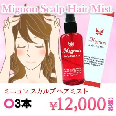 Mignon〜ミニョン スカルプ ヘアミスト〜3本