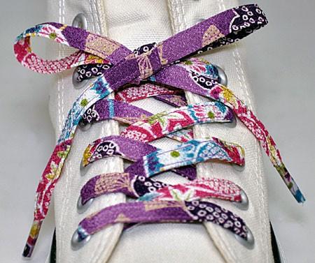 【和柄靴紐】ちりめんくつひも(ノーマル)。靴ひ...