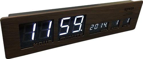 木目調なボディが特徴なデザインLED置き時計