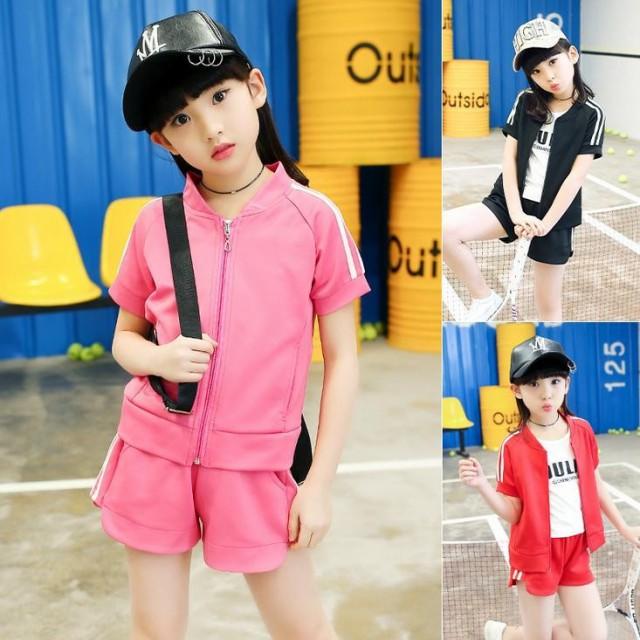 韓国子供服 女の子 女児 パーカー+ズボン 2点セ...