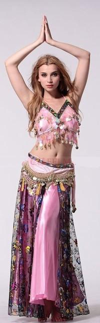 ベリーダンス衣装 3点セット ベリーダンス アラ...