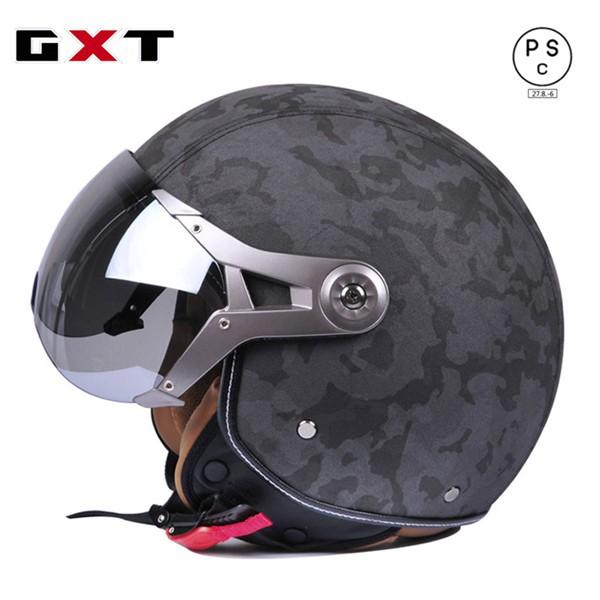 バイクヘルメット バイク用 革 高密度ABS ジェッ...