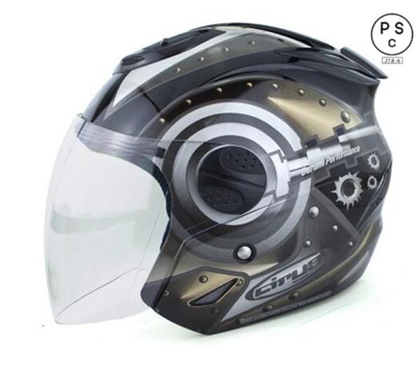 バイクヘルメット バイク用 高密度ABS ジェット 3...