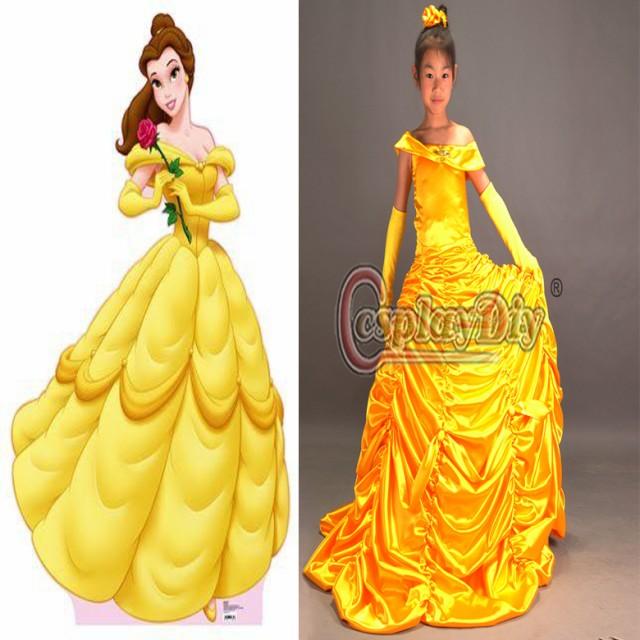 db5577c16da1f 高品質 高級コスプレ衣装 ディズニー 美女と野獣 風 プリンセス ベル タイプ ドレス Princess Bell