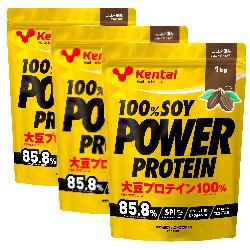100%SOY パワープロテイン ココア風味 1kg ...