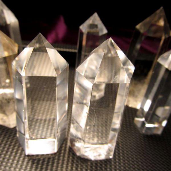 極上超透明!大人気浄化アイテム 水晶六角柱/パワ...