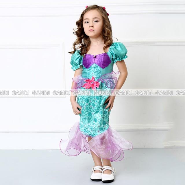 子供 人魚姫 ドレス  コスプレ 3~10歳 ハロウィン...