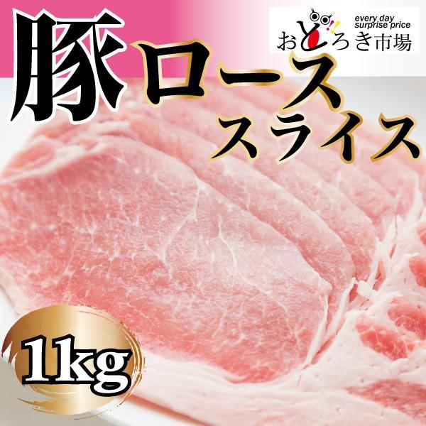 豚肉 豚ロース スライス 1kg 生姜焼き 選べるカ...