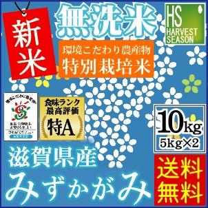 ★新米29年産★【送料無料】無洗米特別栽培米滋賀...