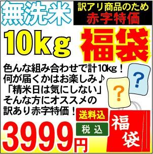 [無洗米]福袋米【送料無料】合計10kgで何が届くか...