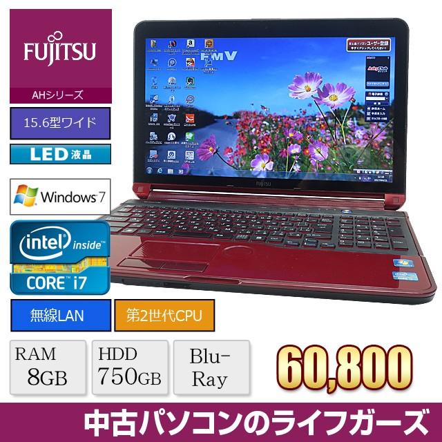 中古パソコン ノート Windows7 FUJITSU AH77/E Co...