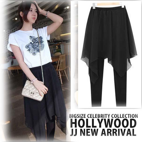 【NEW】スカート付き レギンス パンツ 大きい...