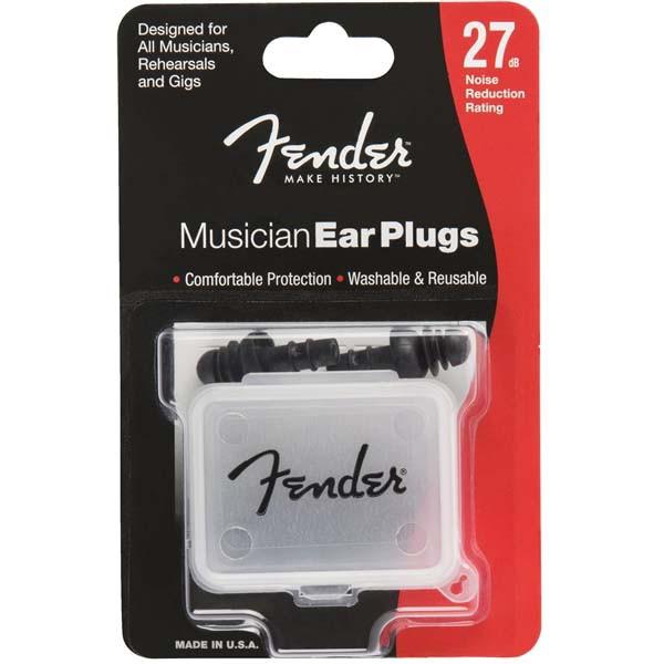 Fender Musician Series Black Ear Plugs(耳栓/2...