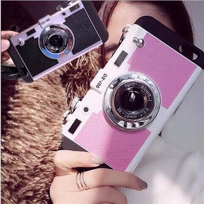 カメラ型 iPhone 5/5s/SE用スマホケース スマホカ...