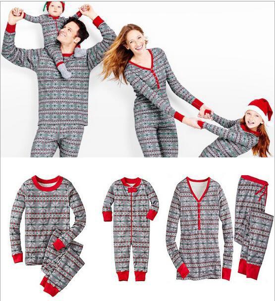 ★クリスマス雪柄★親子ペアルック寝間パジャマ部...