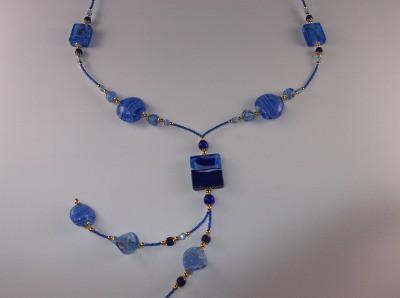 ヴェネチアングラス ネックレス ブルー