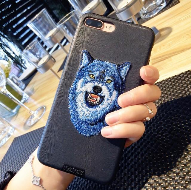 iPhone7/iPhone7Plusケース華奢刺繍カップルスマ...