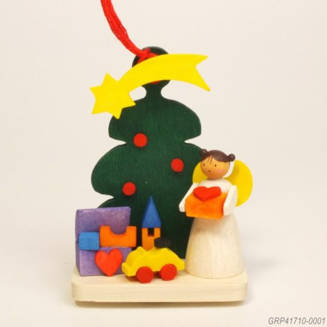天使とツリー、おもちゃ