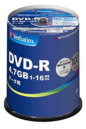 三菱ケミカルメディア Verbatim 1回記録用 DVD-R ...