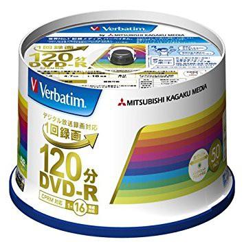 三菱ケミカルメディア Verbatim 1回録画用DVD-R(C...