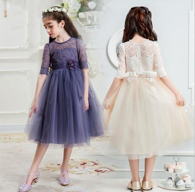 子供ドレス 七五三 結婚式 ピアノ発表会 半袖...