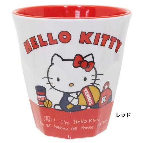 ◆【新生活】ハローキティ メラミンカップ(レッド)(サンリオアニメキャラ)贈り物(A147)