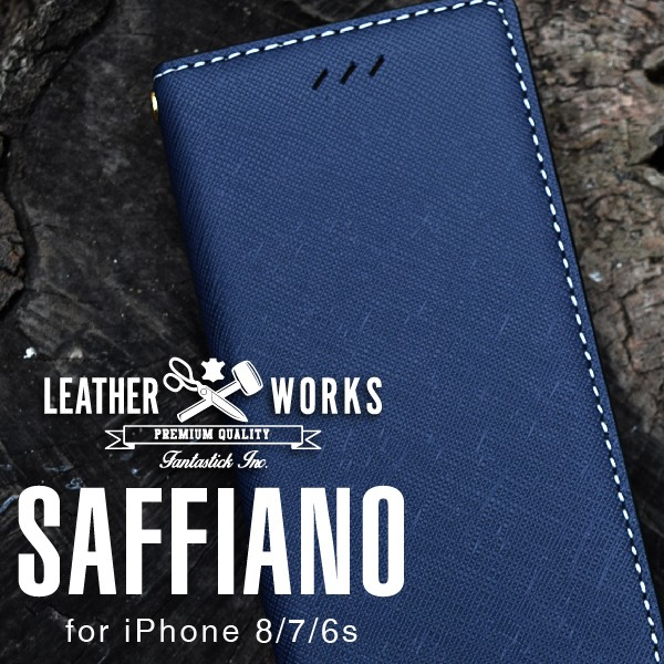 送料無料 Leather Works Basic・Saffiano for iP...