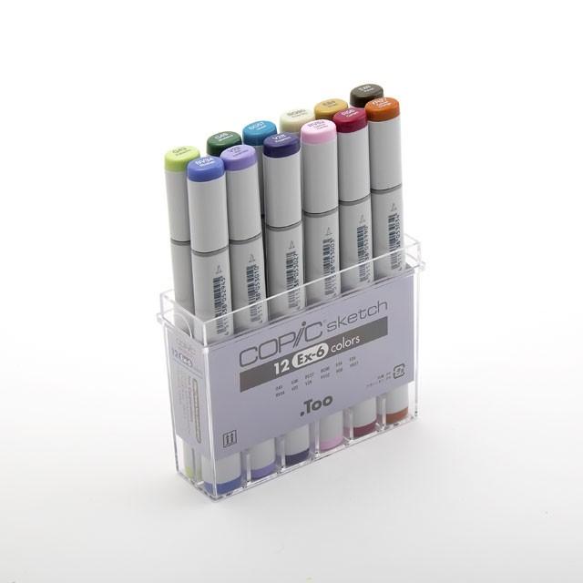 コピックスケッチ 12色セットEx-6