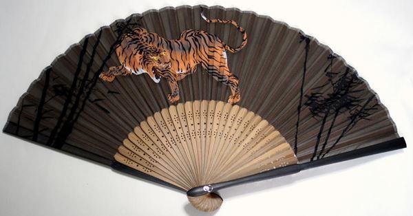 虎扇子1(シルク製)