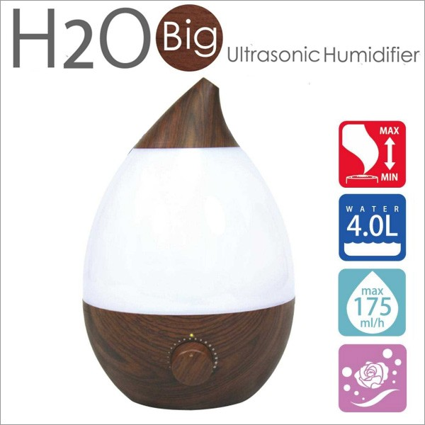 BIG H2O 加湿器 木目 J40W 超音波加湿器 大容量タ...
