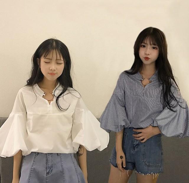 【\5000以上送料無料】ふんわりシャツ/トッ...