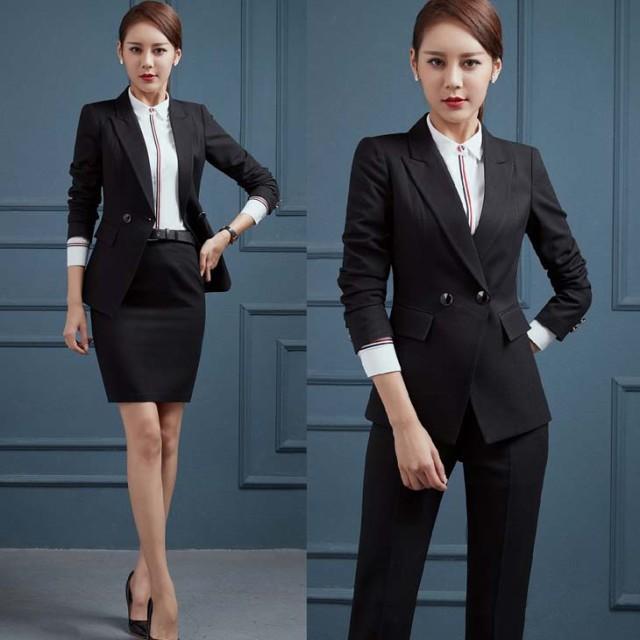 スーツ【予約】ジャケット+スカート+パンツ3点...