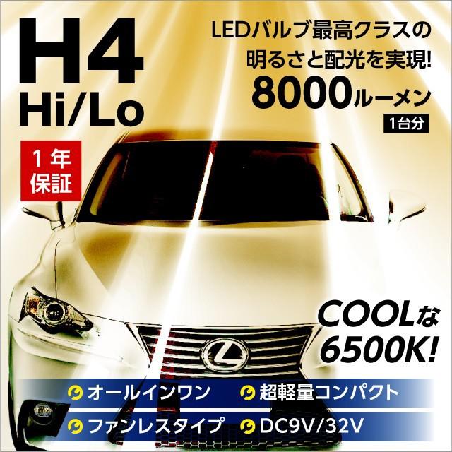 T10LEDポジション付 LEDヘッドライト H4 Hi Lo ハ...