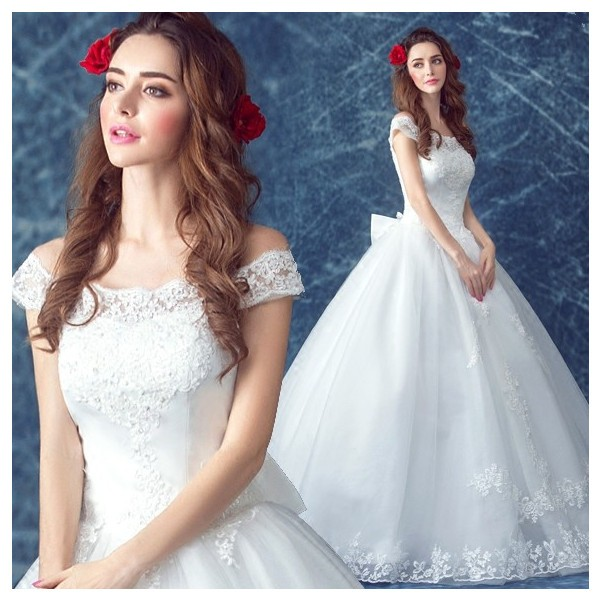 ba59e6059cf12 人気 ウエディングドレス 安い 二次会 ウェディングドレス 結婚式 プリンセスライン エンパイア 花嫁 プリンセス 2017新作