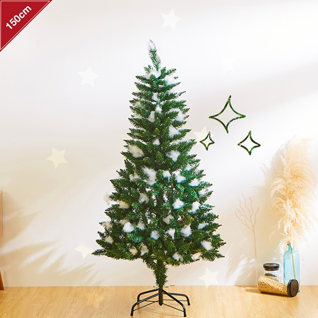 即納 クリスマスツリー 150cm 雪が積もったような...