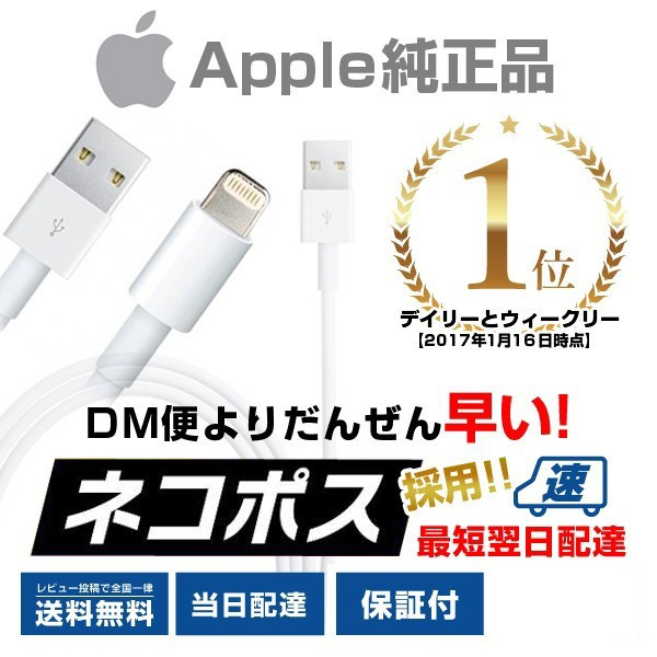iPhone 純正 ライトニングケーブル Apple純正 充電器 iPhone6/6plus iPhone7/7 Plus iPhone8/8 Plus iPhoneX lightning ケーブル 1m