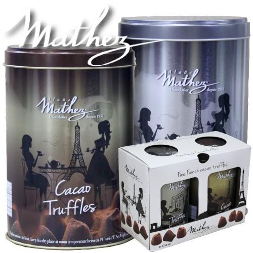 ★mathez★生トリュフチョコレート2缶1kg送料無...