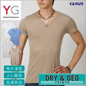 グンゼ【YG】吸汗速乾VネックTシャツ DRY  YV011...