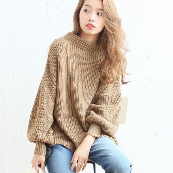 ハイネックセーター【2017秋冬新作】バルーンスリ...