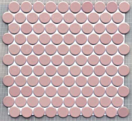 27ミリ丸モザイク BK-A03 サ−モンピンク