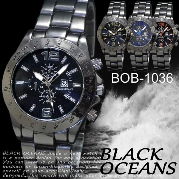 【ケース付き♪送料無料】◇-BLACK OCEANS-◇ 腕...