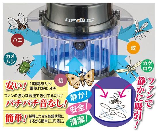光触媒で吸引捕虫器2個セット(54980)