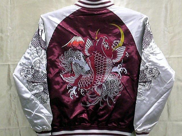 華鳥風月 朧 総刺繍 スカジャン 鯉刺繍