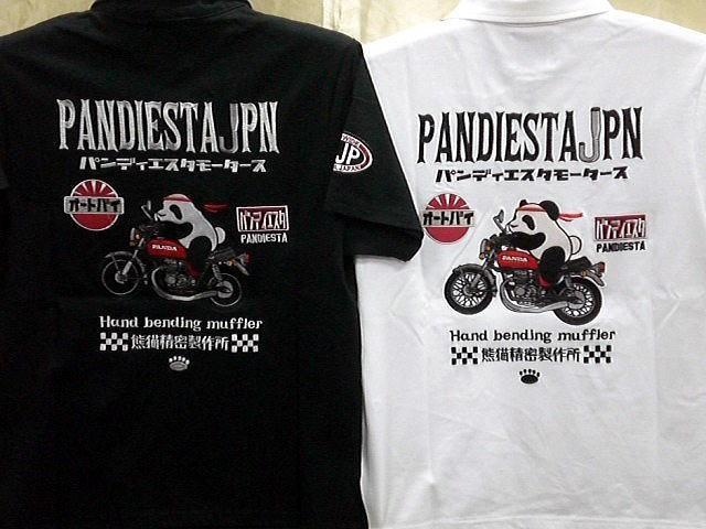 PANDIESTA JAPAN  半袖ポロシャツ 熊猫レーシン...