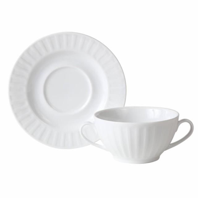 リップル RIPPLE 【両手 スープ カップ&ソーサー...
