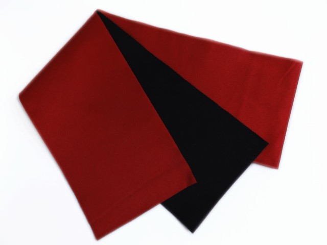 長尺ロング無地リバーシブル半巾帯半幅帯赤黒 浴...