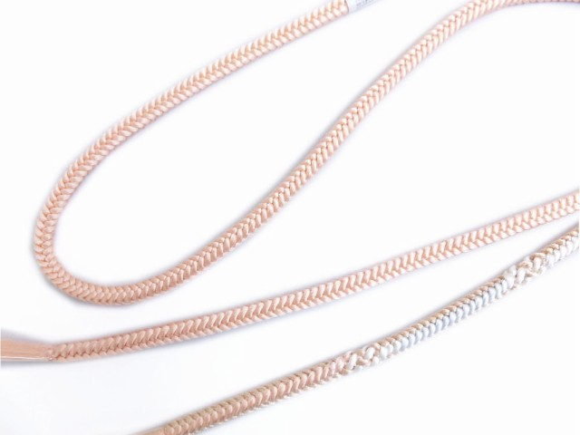 正絹丸組み帯締め帯〆コーラルピンク白金 小紋・...