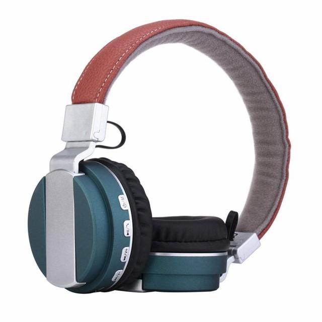 QIHANG Bluetooth4.0 ヘッドホン microSDカード付...