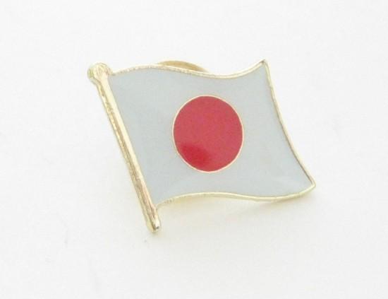はためく 国旗 ピン バッジ 5個 セット (日本 日...
